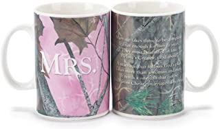 Camo Pink Mr. and Mrs. Truth Hunter 18 Oz. Ceramic Coffee Mug Set of 2