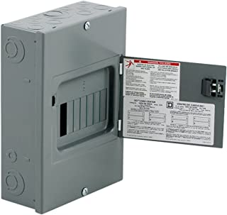 Square D by Schneider Electric QO816L100DS QO 100-Amp 8-Space 16-Circuit Indoor Surface Mount Main Lugs Load Center with Cover and Door