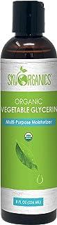 Organic Vegetable Glycerin by Sky Organics (8oz) Non-GMO Kosher USP Grade Hypoallergenic Cold-pressed - Benefits Hair & Sk...
