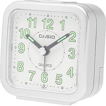 CASIO(カシオ) 目覚まし時計 アナログ トラベルクロック シルバー TQ-141-8JF
