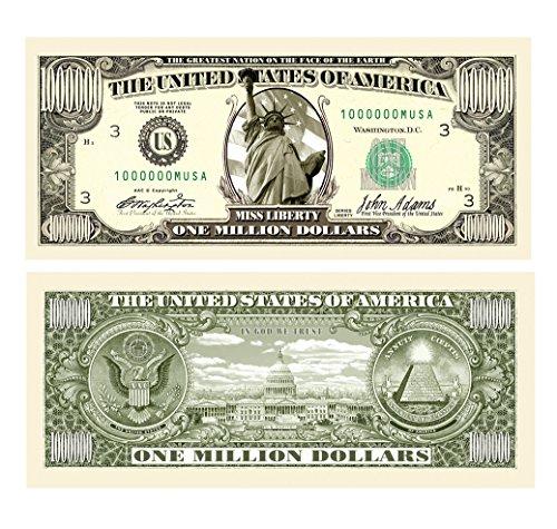 American Art Classics Pack of 5 - Traditional Million Dollar Bill