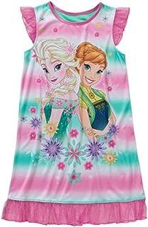 Frozen Fever Girls' License Flutter Sleeve Pajama Sleep Gown XS-L (m 7/8)