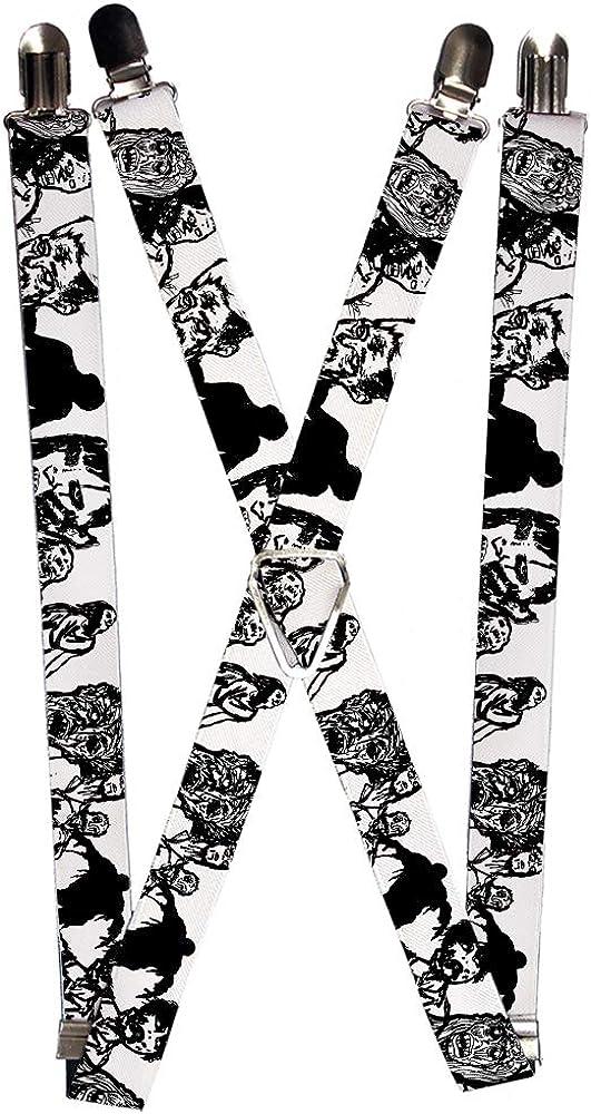Buckle-Down Men's Suspender-Zombies, Multicolor, One Size