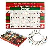 ZHUOFU Calendario dell'Avvento 2020 - Fai da Te Ragazze Collana Bracciale con 22 Moda Gioielli, calendari dell' avvento Conto alla rovescia per Bambini e Adulti