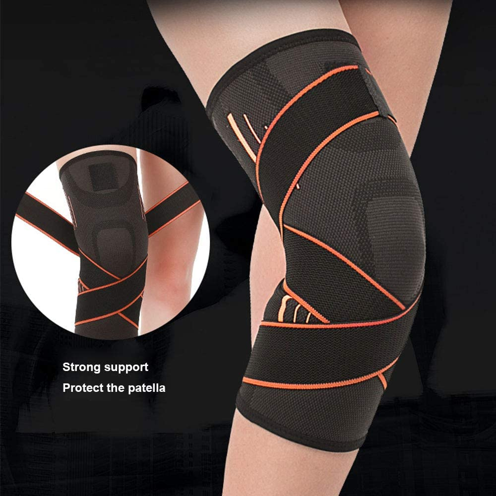 Reduce Strain Swelling Single Knee Brace Support for Men Women Running Hiking Gym Weightlifting Joint Pain Relief Arthritis ACL Meniscus Tear Injury Recovery Knee Brace Compression Sleeve