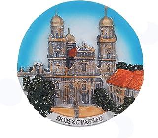 """MUYU Magnet St. Stephen""""s Cathedral Passau Bayern Deutschland 3D Kühlschrankmagnet Tourist Souvenir Geschenkkollektion Home & Kitchen Deko Magnetaufkleber Kühlschrankmagnet"""
