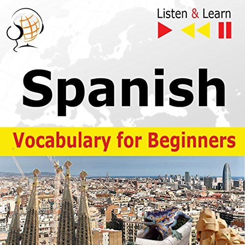Spanish Vocabulary for Beginners - Start talking / 1000 basic words and phrases in practice / 1000 basic words and phrases at work audiobook cover art