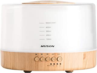 muson Essential Oil Diffuser Sound Machine Combo Diffuser for Aromatherapy Fragrant Oil Cool Mist Humidifier with Natural ...