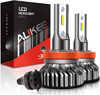 Aukee H11 LED Headlight Bulbs, 50W 10000 Lumens Extremely Bright 6000K H8 H9 CSP Chips Conversion Kit