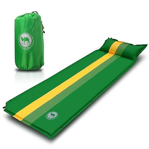 EKKONG Utralight al Aire Libre colchoneta Inflable con Almohada, cómodo colchón Camp Pad, Impermeable