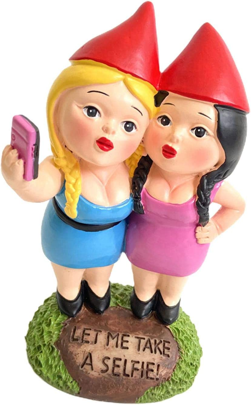 BAOLI Garden Statues Daily bargain sale 6inch Selfie Hom Indoor Sisters Oakland Mall Outdoor and