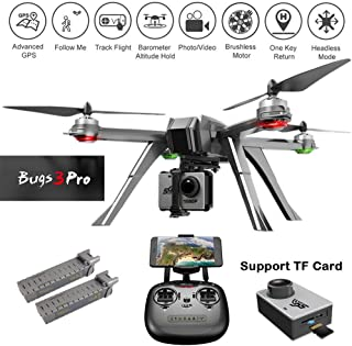 ElementDigital MJX Bugs B3 Pro GPS FPV RC Drone with C6000 Sport Camera, 1080P WiFi HD Camera RC Quadcopter Drone for Adults Beginners, Follow Me, One Key Return Home