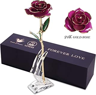 24k Gold Rose, Gold Plated Rose, a Selection of gifts for Anniversary, Marriage, Valentine's Day, Xmas