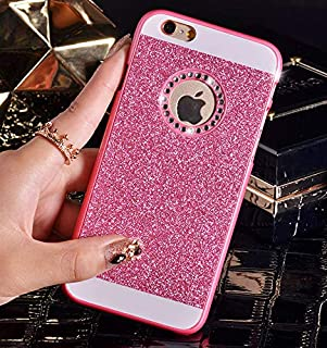 1 piece DREAMYSOW Luxury Funda Glitter Bling Diamond Back Cover For iPhone 7 6 6S Plus X 8 Plus Hard Case for iPhone 5 5S SE 4 4S Shell