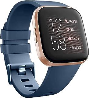 SAPU Compatible with Fitbit Versa 2/Versa/Versa Lite, Soft Silicon Sport Bands Wristbands Accessories for Women Men Dark Blue