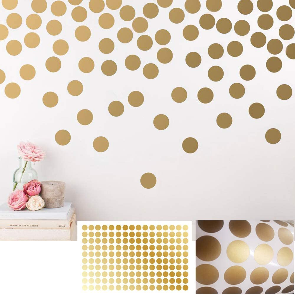 Stick Dots Wall Decals 36 Sorbet Colored Confetti Polka Dot Wall Decals 3 Removable Eco-Friendly Wall Stickers for Kids Rooms and Nursery BATTOO Easy Peel