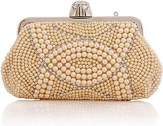 Ladies Banquet Bag Handbag, Diamond Clutch Coin Purse, Moonlight Flower Fashion Sun Flower Evening Tote, 23 * 13 * 4 cm (Color: Yellow) Shining (Color : Yellow) (Color : Yellow)