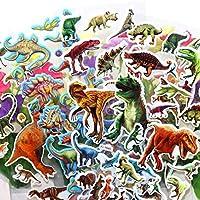 10シート/ロットジュラ紀恐竜3DバブルステッカースクラップブックPVC DIY子供のための子供の教育ギフト報酬ステッカー