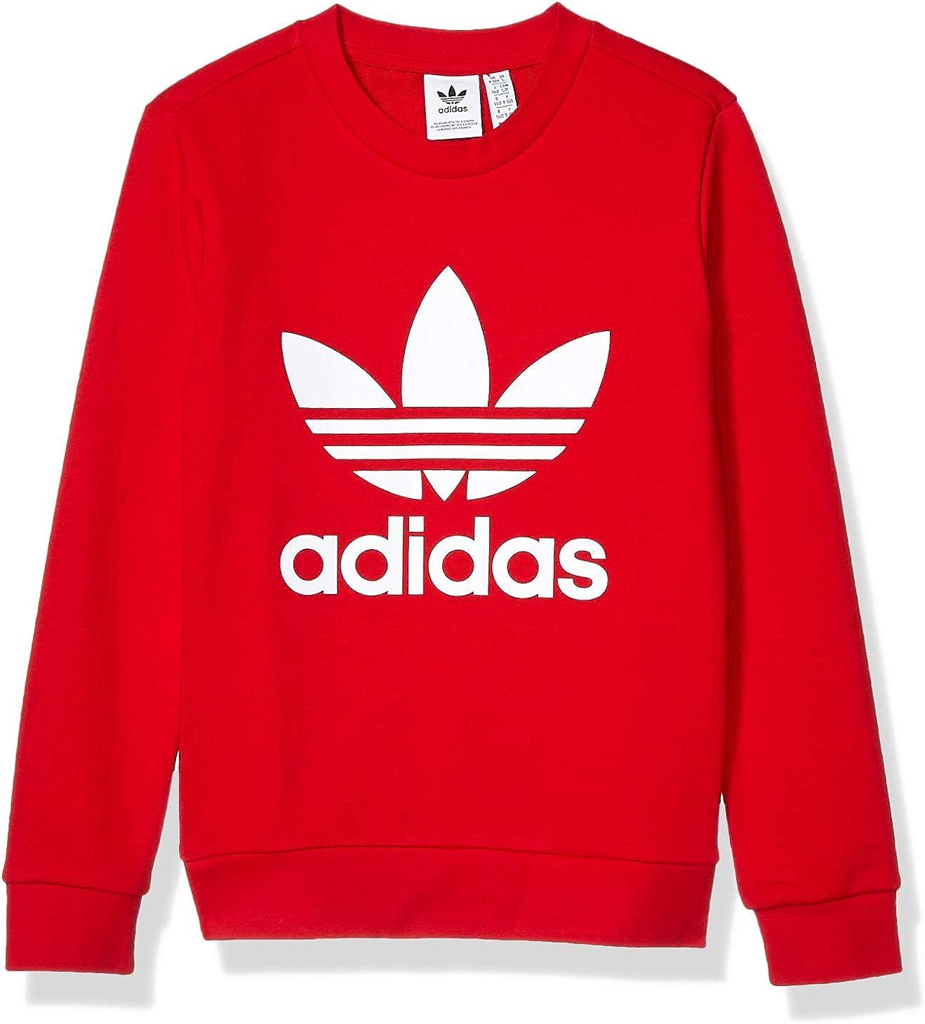 Amazon Com Adidas Originals Little Kids Trefoil Crewneck Sweatshirt Clothing [ 1460 x 1320 Pixel ]