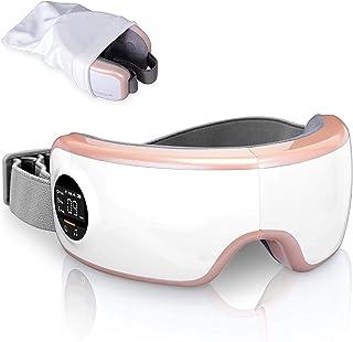 ماساژور برقی چشم SereneLife Stress Therapy - ماساژور دیجیتال چشم هوشمند با نقطه فشار گرمایی ، باتری داخلی ، باند الاستیک - ماساژ چشم با لرزش فشار هوا - SLEYMSG40PK
