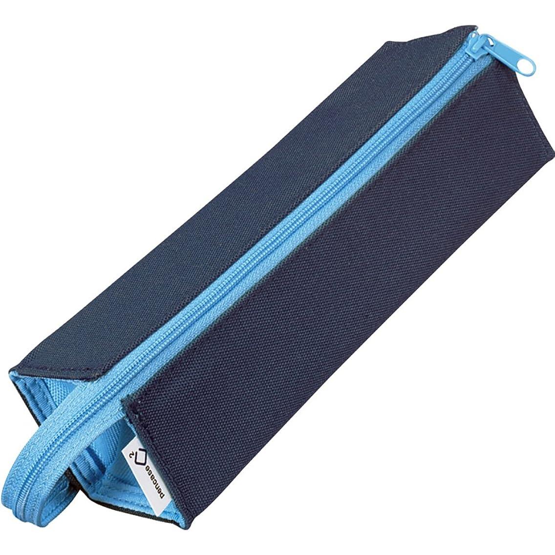 家事をするペインギリックアドバンテージコクヨ ペンケース 筆箱 ペン立て C2 ネイビー×ブルー F-VBF122-1