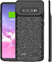 Galaxy S10 Plus Battery Case,5000mAh Rechargeable Portable Charger Case Extended Charging Case Protective Backup Power Case for Samsung Galaxy S10 Plus,S10+ Black (S10 Plus)