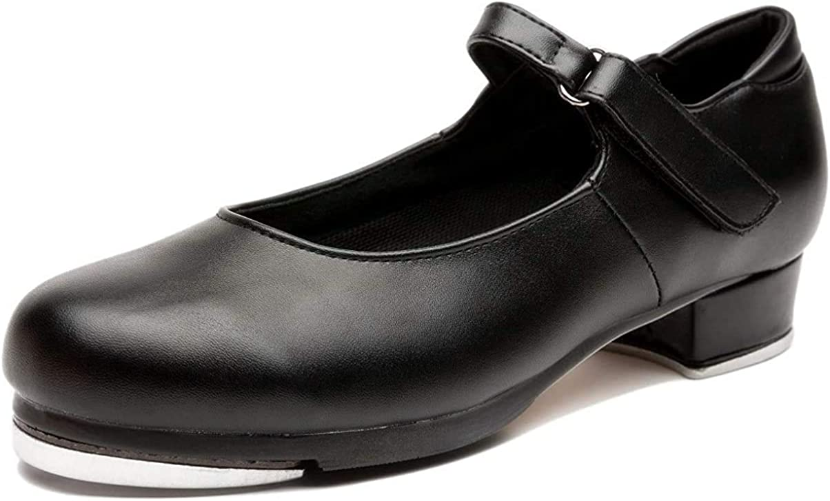 NLeahershoe Slide Buckle Leather Tap Cheap super special price Max 43% OFF Dancing Shoes for Wom