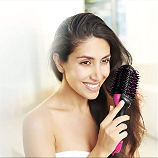 Hot Air Brush, inkint One-Step Hair Dryer & Volumizer Professional Ceramic Blow Dryer for Straightening Curling Drying Combing for All Hair Types