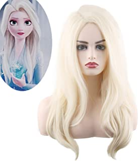 Long Blonde Curly Costume Wigs for Women Halloween Cosplay Anime Party
