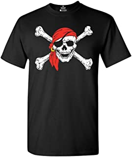 Pirate Skull & Crossbones T-Shirt Pirate Flag Shirts