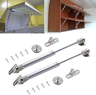 [2 Pack] Lift Support,Gas Strut,Soft Close Hinges,120N/26lb/12KGGas Spring, Lid Support, Kitchen Cabinet Hinges, Toy Box H...