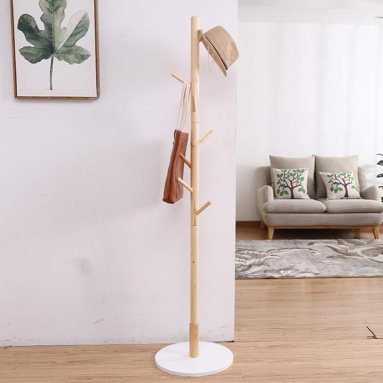 Solid Wood Coat Rack,Simple Entryway Standing Hall Tree,for hat Jacket Coat Hanger Rack in Living Room Bedroom Office-Y 45x165cm(18x65inch)