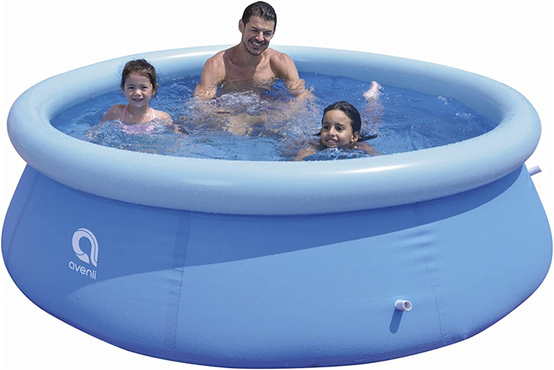 SELLERWE Inflatable 《週末限定タイムセール》 Swimming Pool 8FT 25IN and スピード対応 全国送料無料 Upgrade X Adults