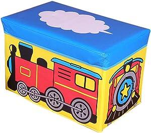 Non-Woven Storage Stool Green Falten Cartoon osmanischen Fußball-Multi-Purpose Unterwäsche-Spielzeug-Speicherbox 49×30×30Cm,Blue