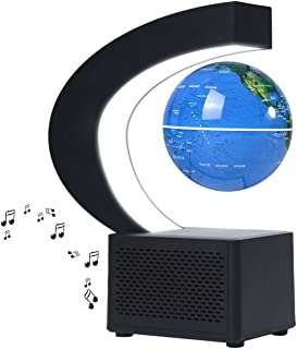 MCOMC Magnetic Floating Globe BT Speaker 3.5 Inch Leviation World Map Globe Levitating Rotating Earth Ball with LED Educat...