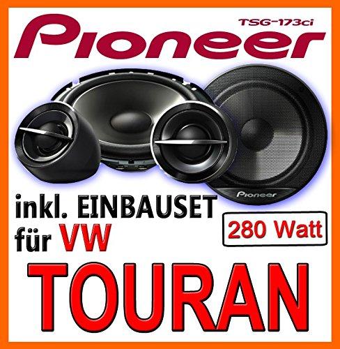 Lautsprecher hinten - Pioneer TS-G173Ci - 16cm 2-Wege System - Einbauset für VW Touran - JUST SOUND best choice for caraudio