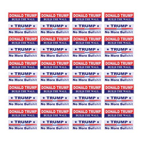 Amosfun 40pcs Donald Trump Auto Aufkleber American Donald Trump 2020 Nicht mehr Bullshit wasserdicht Aufkleber Label für Stoßstange Motorboot Laptop