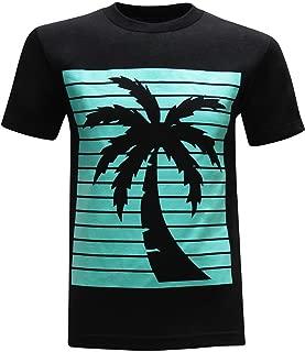 tees geek California Republic Turquoise Palm Men's T-Shirt