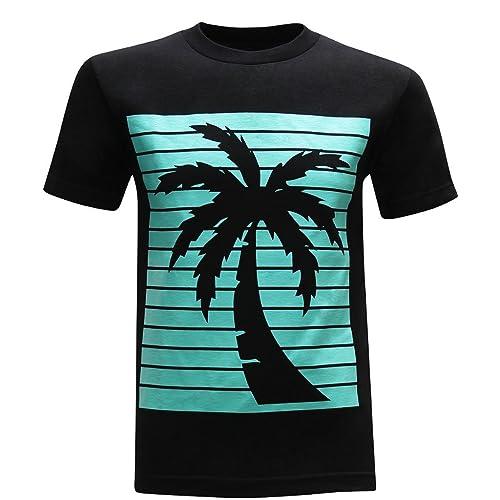 tees geek California Republic Turquoise Palm Men s T-Shirt f6ce2e2bb