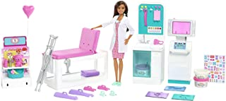 Barbie Fast Cast Clinic Playset, Brunette Doctor Doll...