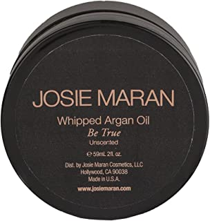 Josie Maran Whipped Argan Oil Body Butter - Immediate, Lightweight, and Long-Lasting Nourishment to Soften and Hydrate Skin (59 ml/2.0 oz, Unscented)
