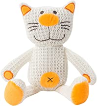 The Gro Company Carrie The Cat Breathable Toy, Orange/White