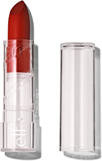 e.l.f. Srsly Satin Lipstick, Intense color Payoff & Silky Smooth Formula, Cherry On Top, 0.16 Oz (4.5g)