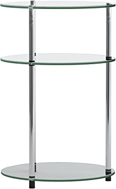Convenience Concepts Designs2Go Classic Glass 3 Tier Round Table, Glass