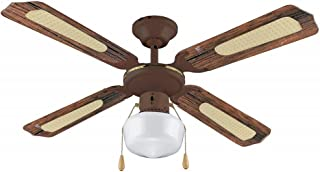 VINCO Ventilador de techo 3 Velocidades 70919 art. 4 palas 1 luz, 1 contacto, de rotación diámetro: 150 cm