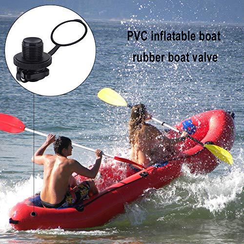 COHU Accesorio para Bote Inflable, diseño Fino Válvula para Bote Inflable Válvula de inflado unidireccional Resistente y para la mayoría de los Botes inflables para balsa Bote de Goma