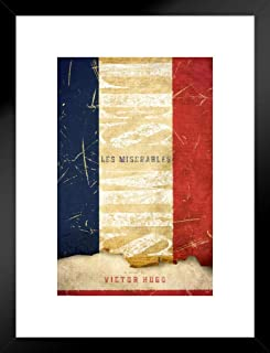 Pyramid America Les Miserables Victor Hugo Art Print Matted Framed Poster 20x26 inch