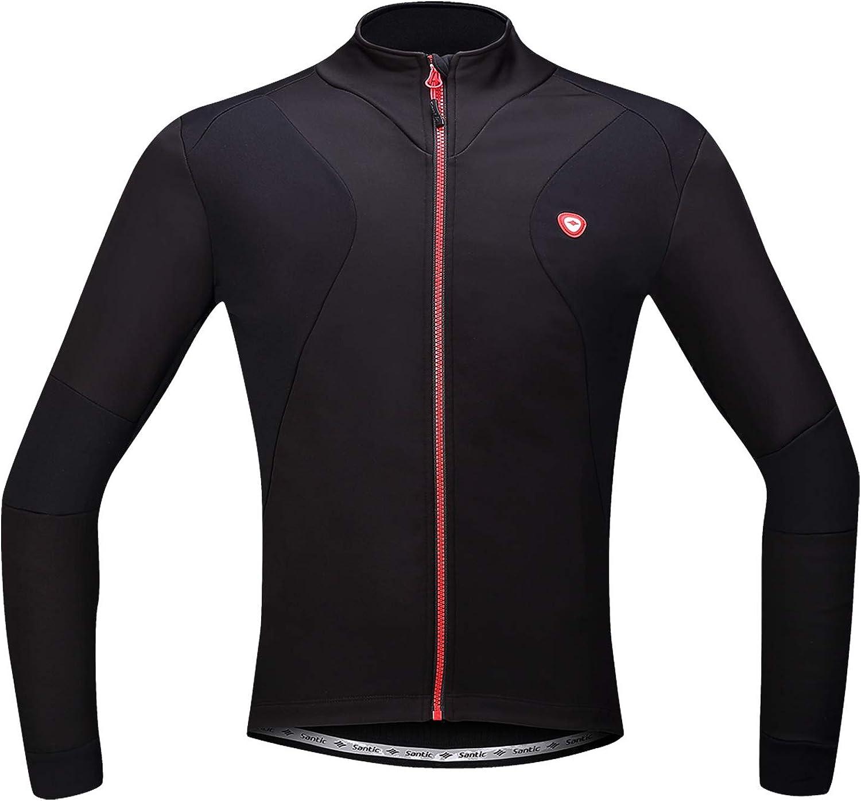 Santic Max 51% OFF Winter Cyclng Jakets for Popular standard Bike Jacket Men Thermal Running