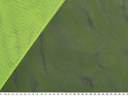 Soft tulle, nylon, vert, 150 cm environ