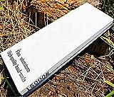 ShARPENINGL Schleifstein-Meisterklasse mit Körnung 15000 zum Polieren, hergestellt von einem professionellen SchleifsteinGummihalter aus weißem Korund